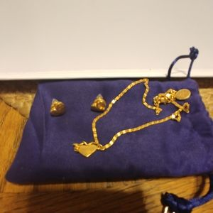 Tory Burch matching necklace&earrings